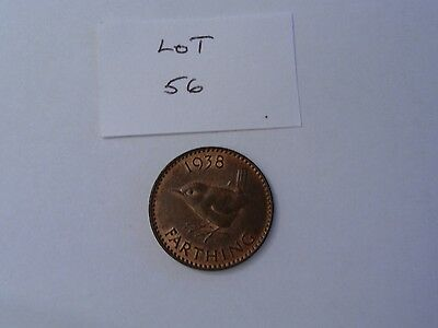 1938 George VI farthing good EF/about Unc. (Lot 56)