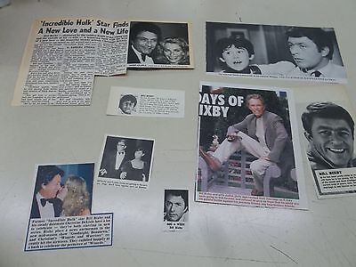 Bill Bixby   lot of clippings