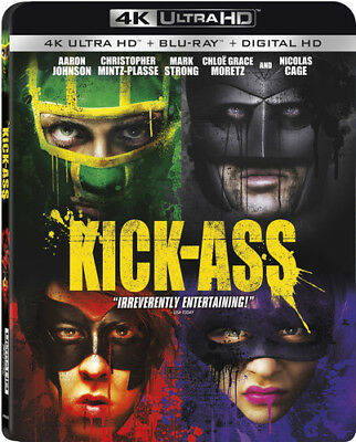 Kick-ass [New 4K UHD Blu-ray] With Blu-Ray, Widescreen, 2 Pack, Ac-3/Dolby Dig
