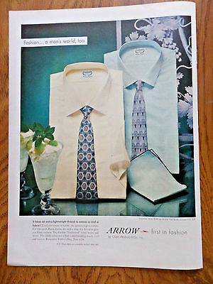 1956 Arrow Shirts Ad  Batiste Icetone