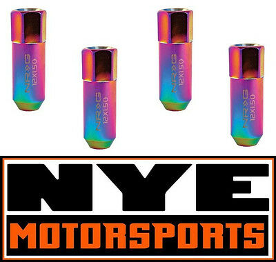 NRG Neo Chrome Extended Tuner Series Lug Nuts M12x1.5  4 PC Honda Civic Integra