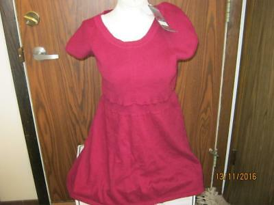 Oh Baby by Motherhood maternity cranberry sweater sz L NWT RV$50