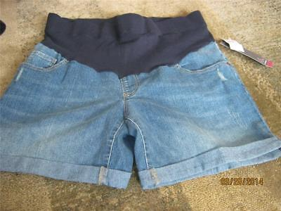 Oh Baby by Motherhood mid belly  5 pocket jean maternity shorts sz M NWT RV $40