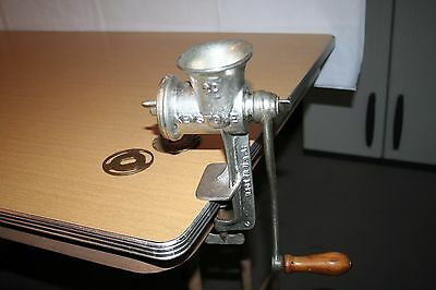 Keystone Meat Grinder #20 with Table Clamp and 3 Blades Boyertown PA