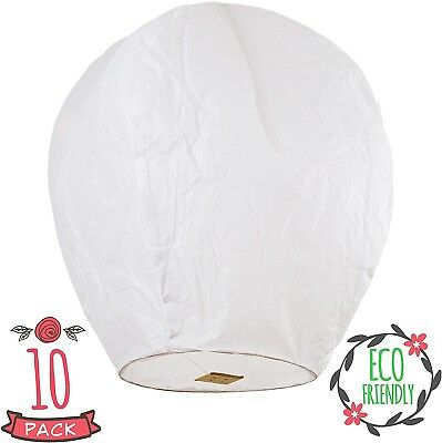 Coral Entertainments Biodegradable Chinese Lanterns with Box 10-Pack White Sky
