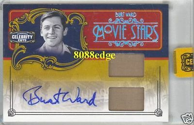 2008 Celebrity Cuts Dual Materials Autograph Auto:burt Ward #1/1 Of Robin/batman