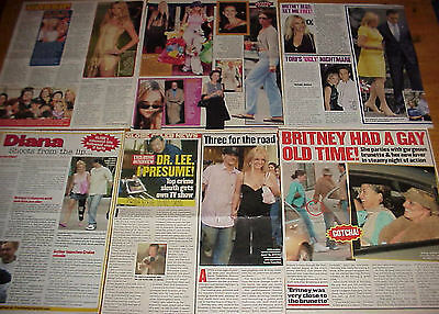 Britney Spears Clippings 8 Lots #081317
