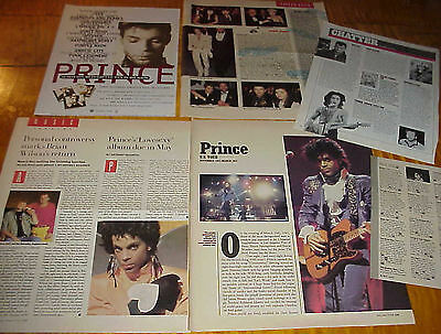 PRINCE ROGERS NELSON 1980S VINTAGE CLIPPINGS cuttings LOTS (61) Pieces #041817