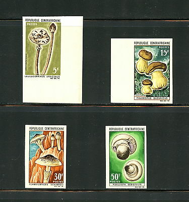 Central Africa  1967  #81, 83-5  mushrooms IMPERF SHORT SET  4v.  MNH  G775