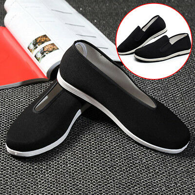 Mens Kung Fu Shoes Chinese Martial Art Ninja Soft Sole Tai Chi Slipper Slip On