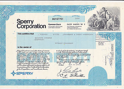 Sperry Corporation Common Stock-1983