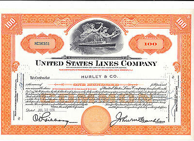 United States Lines Company-shares-1956