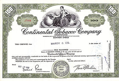 Continental Tobacco Company-shares-1968