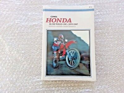 Clymer Honda XL125 XR125 TLR125 200 1979 - 1987 Service Workshop Manual M318