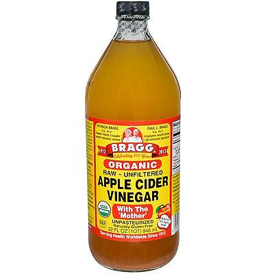 Bragg Organic Apple Cider Vinegar with The 'Mother' 946ml - Same Day Dispatch!