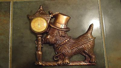 "Vintage metal Scottie terrier Dog ? Thermometer  5"" x 5.5"""