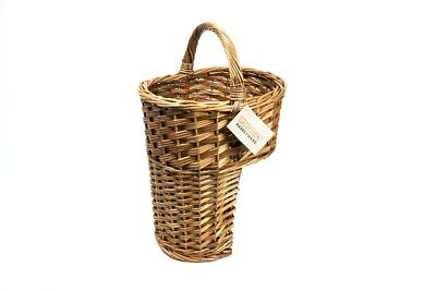 Brown Wicker Oval Stair Basket / Step Basket with Handle