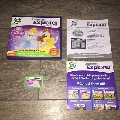 Leapfrog Leapster Explorer DISNEY PRINCESS Game Leap Pad,2,3,GS,XDi Ultra