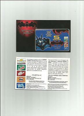 Oy1997 Batman And Robin Calling Cards In Original Condition But Expired-Mint