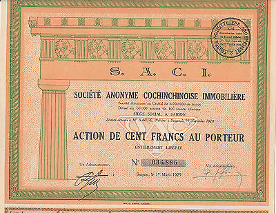S.A.Chochinchinoise Immobiliere-S.A.C.I.-Action-Saigon-1929