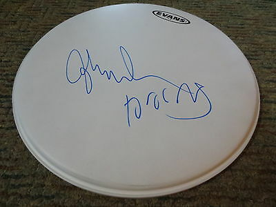 "JOHN DENSMORE Signed 14"" Evans White Drumhead - THE DOORS"