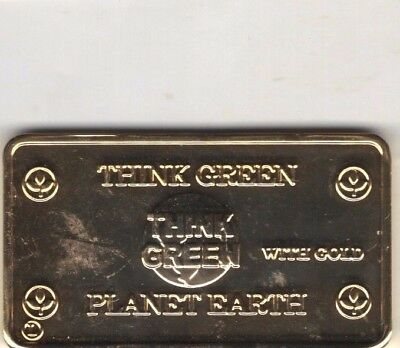 Think Green Planet Earth Pure Bronze Bar