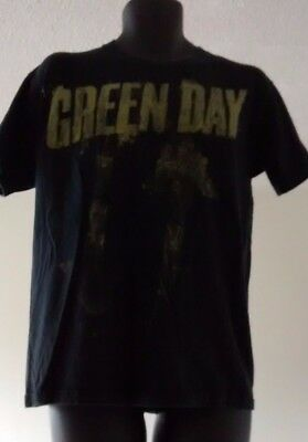 Green Day Distressed Spatter Arrows T Shirt Black Size M