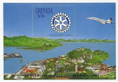 Grenada 1988 Rotary Conference Airplane S/S MNH C2