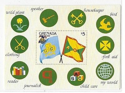 Grenada 1985 Girl Scout Badges S/S MNH C2