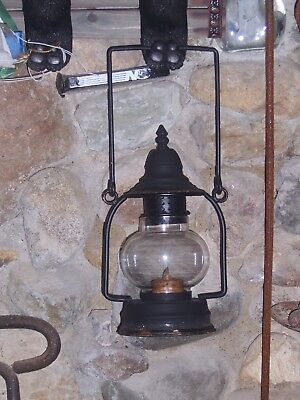 Rustic Camp Lantern-Glass Mantel-12 Inches Tall for Tea Light or Votive Candle