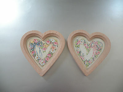 Home Interior HEART & BOW PICTURES, HOMCO, Wall Decor, Rose , Ribbons
