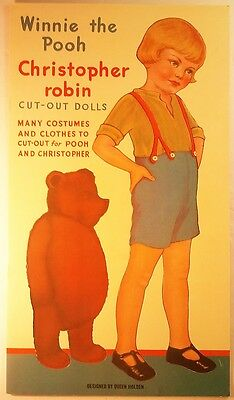 Queen Holden - Winnie the Pooh Christopher Robin Cut Out Dolls [Uncut]