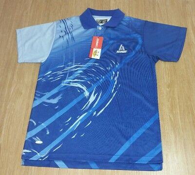 Men's BADMINTON T-Shirt XS Blue ASHAWAY Breathable Performance Lightweight