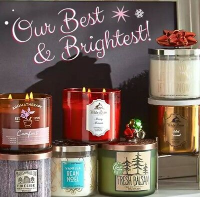 Bath And Body Works Large 3-Wick Candle Christmas Winter 2017