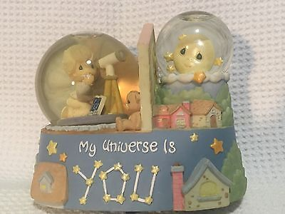 Precious Moments Musical Snow Globe My Universe Is You   Enesco.