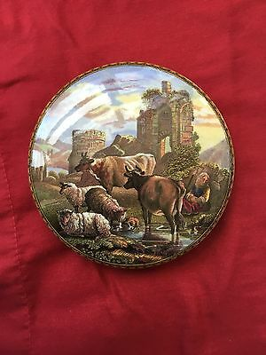Prattware Pot Lid Pratt Cattle And Ruins