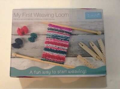 My First Weaving Loom Kit Beginners Introduction To Hand Weaving