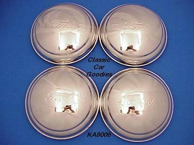 """1946 """"Ford"""" Truck Hub Cap (4) Polished Stainless Steel"""