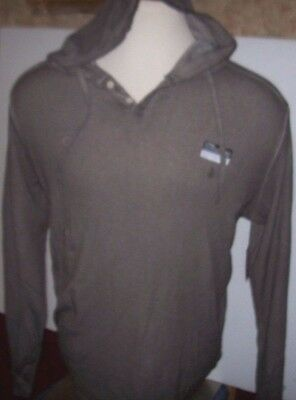 New Volcom purple turquoise blue shirt hoodie pull-over henley thermal small S