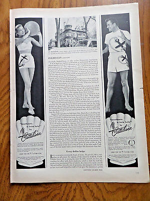 1950 Catalina Sweethearts in Swim Suits by Catalina Ad Anchor