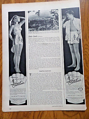 1950 Catalina Sweethearts in Swim Suits by Catalina Ad