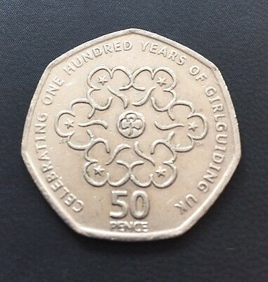 50p Coin 2010 100 Years Of Girl Guides Quality Coin