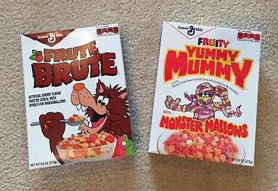 Monster Cereal Boxes from 2013 - Frute Brute and Yummy Mummy - stil sealed NICE
