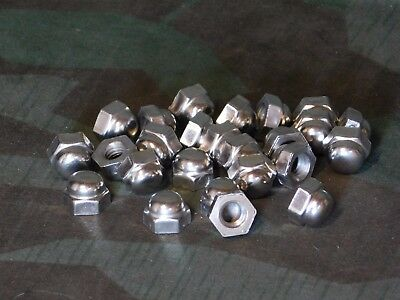 "(25) 3/8""-16 Nickel Plated Acorn Nut"