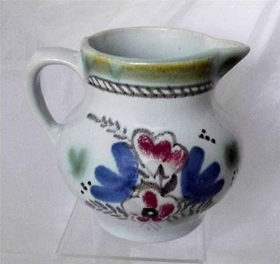 Buchan Pottery Scotland Hand Painted Floral Pattern Milk Jug made in Stoneware