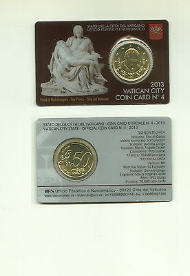 VATICAN ORIGINAL COINCARD n. 4 WITH REGULAR 50 CENT 2013