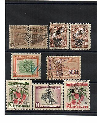 ** URUGUAY, old used stamps