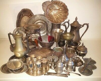 Job lot mixed Vintage and Antique Silver Plated Items