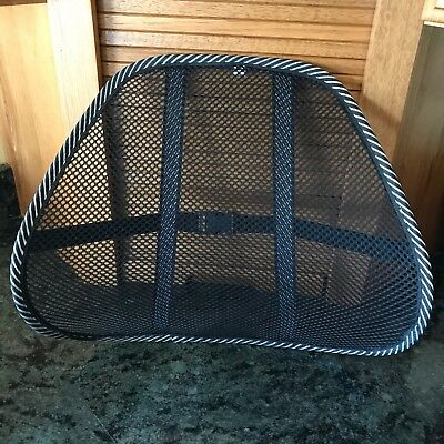 Super Cool Mesh BACK SUPPORT for Auto, Office, Wheelchair, Couch, Recliner NWT