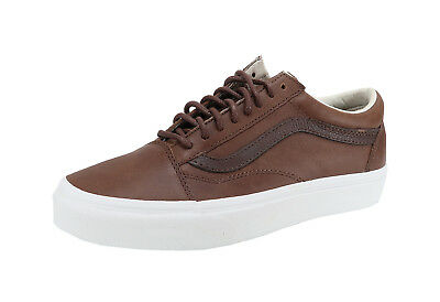 Vans Men Women Unisex Shoes Old Skool Leather Dachshund/Potting Soil Dark Brown